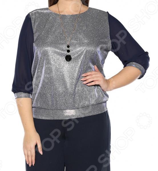 Блуза Blagof «Блестящий стиль». Цвет: темно-синий блуза blagof блуза мерси цвет персиковый
