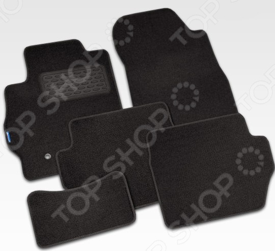 Комплект ковриков в салон автомобиля Novline-Autofamily Daewoo Matiz 2000 хэтчбек. Цвет: черный