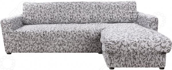 натяжной чехол на угловой диван с выступом слева еврочехол сиена сатурно Натяжной чехол на угловой диван с выступом справа Еврочехол «Сиена Джоя»