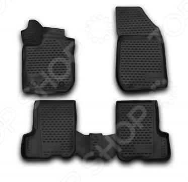 Комплект 3D ковриков в салон автомобиля Novline-Autofamily Renault Sandero / Sandero Stepway 2014 комплект 3d ковриков в салон автомобиля novline autofamily renault duster 2015