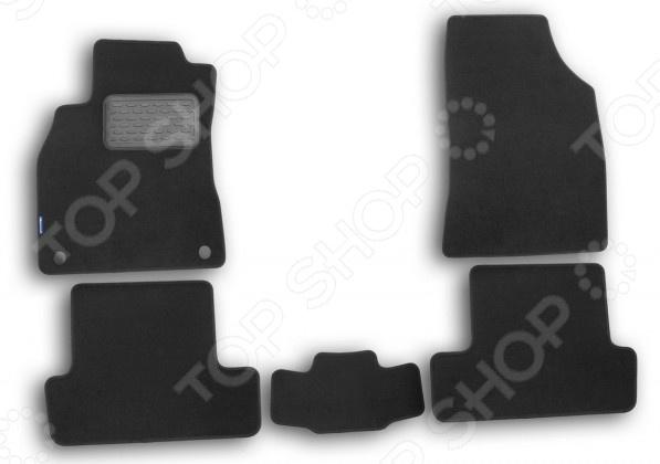 Комплект ковриков в салон автомобиля Autofamily Renault Megane III 2010 хэтчбек. Цвет: черный