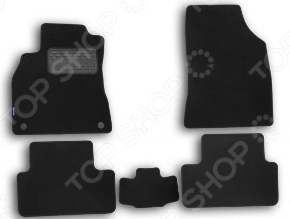 Комплект ковриков в салон автомобиля Novline-Autofamily Renault Fluence 2010 седан. Цвет: черный комплект 3d ковриков в салон автомобиля novline autofamily renault duster 2015