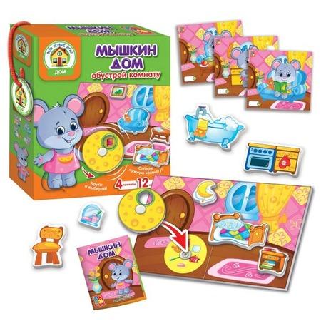 Купить Игра настольная с липучками Vladi Toys «Мышкин дом»