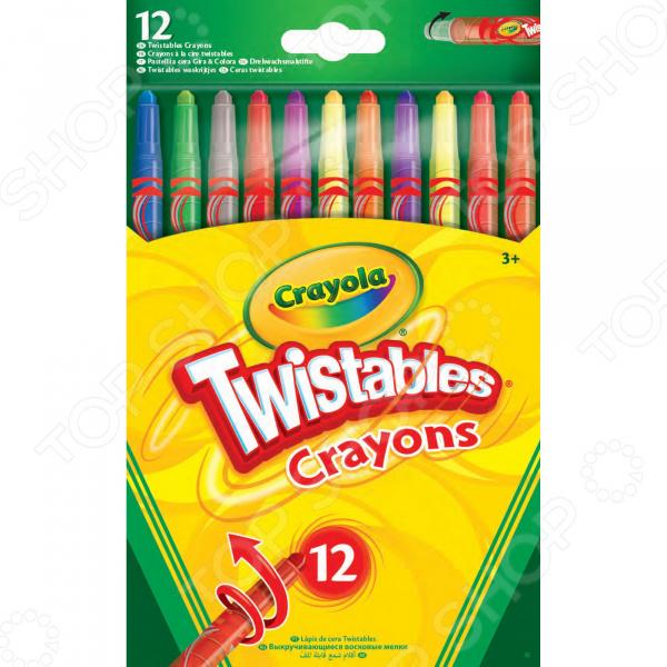 Набор восковых мелков Crayola выкручивающиеся crayola llc crayola oil pastels 28 color set set of 12