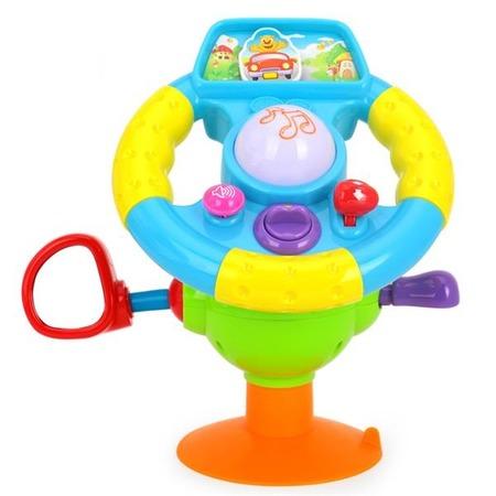 Купить Игрушка музыкальная Huile Toys «Руль большой»