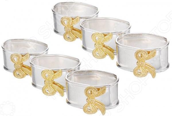 Набор салфетниц MARQUIS 1039-MR «Золотой Бантик» ваза marquis 7022 mr