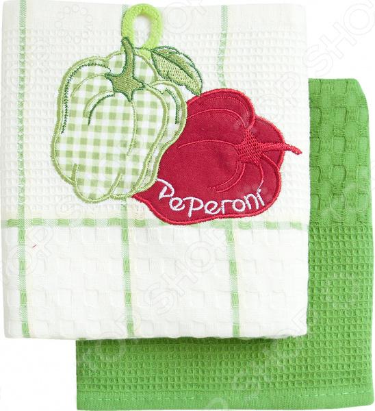 Комплект из 2-х кухонных полотенец BONITA «Перец» ткань для полотенец оптом в москве