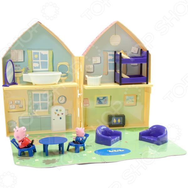 Игровой набор с фигурками Peppa Pig «Домик свинки Пеппы» игровой набор peppa pig особняк семьи пеппы с 3 фигурками 35360