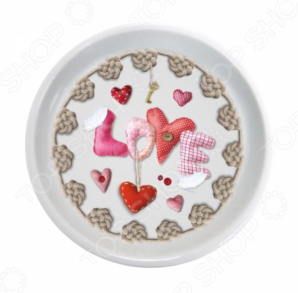Крышка-блюдце Gift'n'Home «Сердечки любви»
