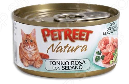 Корм консервированный для кошек Petreet Natura Tonno Rosa con Sedano
