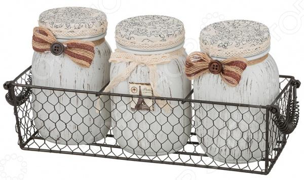 Набор банок для сыпучих продуктов «Париж» gift planet набор банок для сыпучих продуктов прованс из 4 х шт 13231