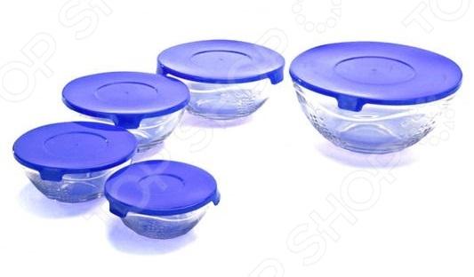 Набор мисок с крышками Bradex TK 0188 набор мисок bohmann голубые цветы с крышками 6 предметов