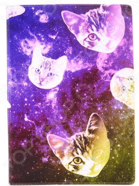 Обложка для паспорта кожаная Mitya Veselkov «Сны о кошках»