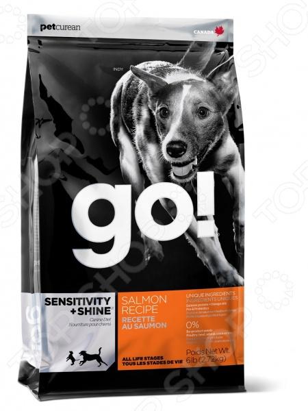 ���� ����� ��� ������ � ����� � �������������� ������������ Go! Sensitivity Plus Shine. Salmon Recipe