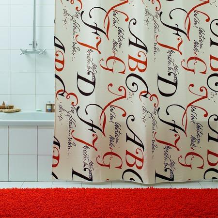 Купить Штора для ванной Bacchetta Lettere