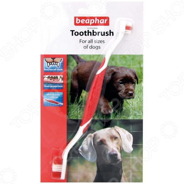 Щетка зубная для собак Beaphar 15315 двойная