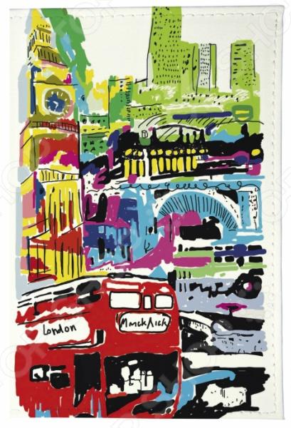 Обложка для паспорта кожаная Mitya Veselkov «Лондон в красках» как дешевые билеты в лондон
