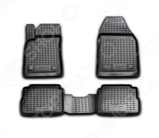 Комплект ковриков в салон автомобиля Novline Autofamily Opel Vectra 2002-2008