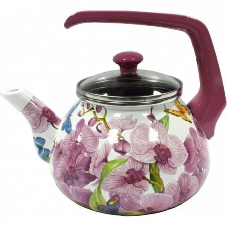 Купить Чайник эмалированный Interos 15116 «Орхидея»