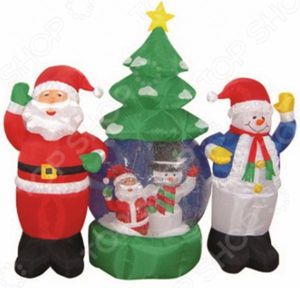 Фигура 3D надувная с подсветкой Neon-Night «Дед Мороз и Снеговик»
