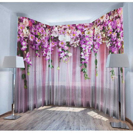 Купить Фототюль ТамиТекс «Ламбрекен из цветов»