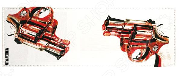 Обложка для студенческого билета Mitya Veselkov «Пистолет» обложка для студенческого билета mitya veselkov ежик ночью