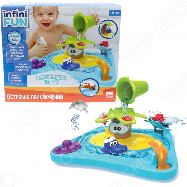 Игрушка для ванны детская Kidz Delight «Островок приключений»