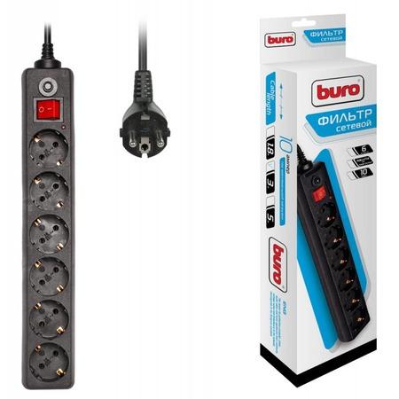 Фильтр сетевой BURO 600SH-3-B
