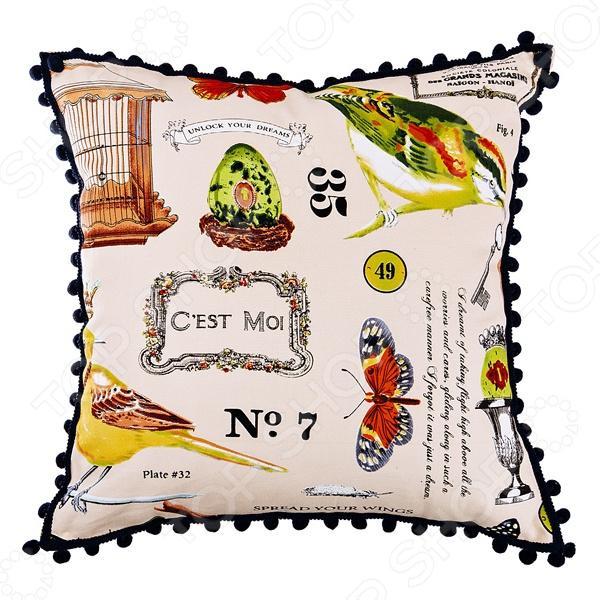 Подушка декоративная Santalino «Баттерфляй» 850-822-61 подушка декоративная santalino райский сад 850 818 6