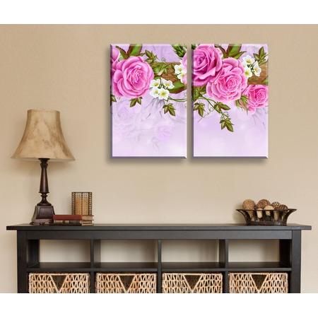 Купить Картина 2-модульная ТамиТекс «Китайские розы»