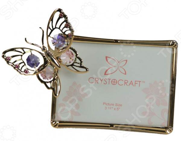 Фоторамка Crystocraft «Бабочка» с кристаллами Swarovski 67340