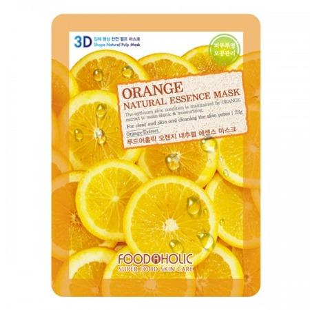 Купить Маска тканевая для лица FoodaHolic 3D с экстрактом апельсина