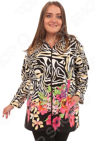 Куртка Лауме-Лайн «Вилен». Цвет: черный, бежевый