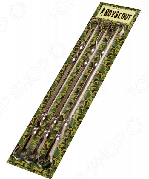 Набор плоских шампуров Boyscout в блистере фонарь maglite 2d серебристый 25 см в блистере 947202