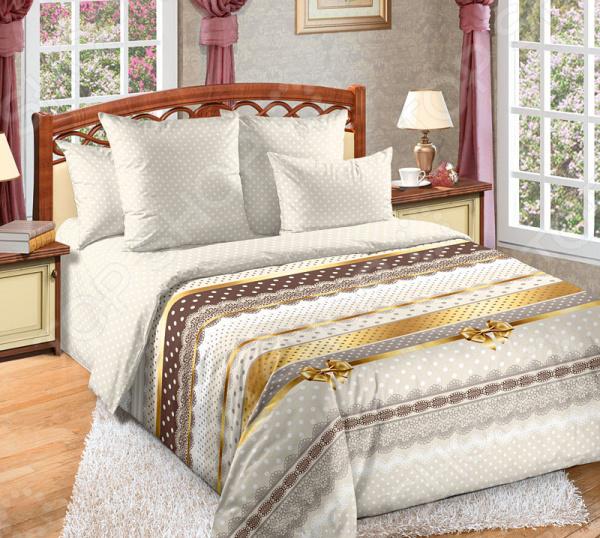 цена Комплект постельного белья Королевское Искушение «Ненси». Тип ткани: сатин онлайн в 2017 году