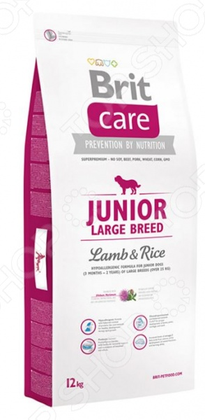Care Junior Large Breed Lamb & Rice Корм сухой для щенков крупных пород Brit Care Junior Large Breed Lamb & Rice