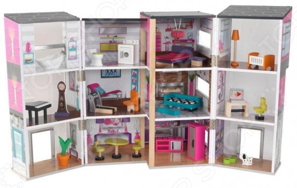 Кукольный дом с аксессуарами KidKraft «Современный Таунхаус делюкс»