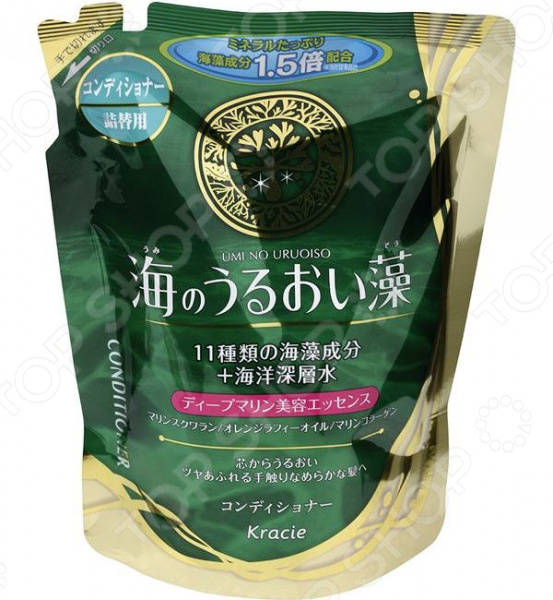 Бальзам-ополаскиватель увлажняющий Kracie Umi No Urioi Sou с экстрактом морских водорослей и минералами