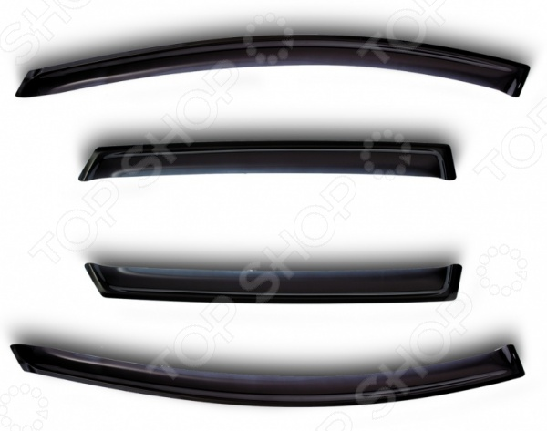 Дефлекторы окон Novline-Autofamily Honda Civic 5D 2006-2011 хэтчбек комплект ковриков в салон автомобиля novline autofamily honda civic 4d viii 2006 2011 цвет черный