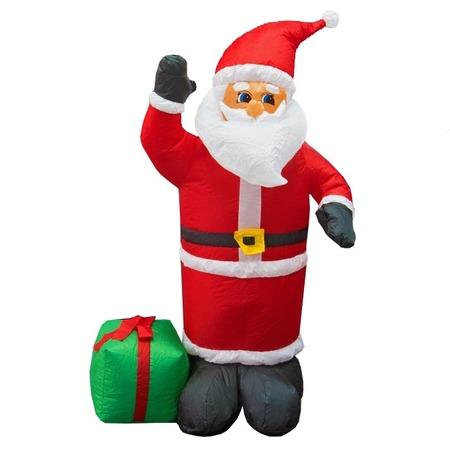 Купить Фигура 3D надувная с подсветкой Neon-Night «Дед Мороз с подарком»