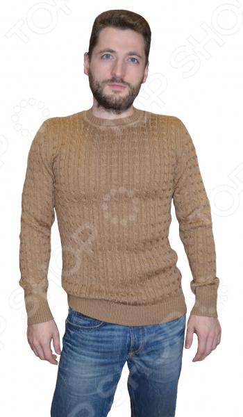 Джемпер мужской из верблюжьей шерсти «Косичка» джемпер мужской шерсть