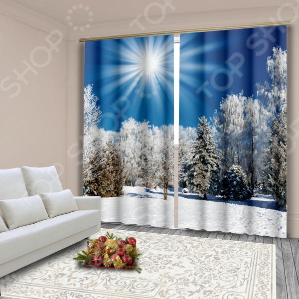 фото Комплект фотоштор «Зимнее утро», Фотошторы с цветами/пейзажами