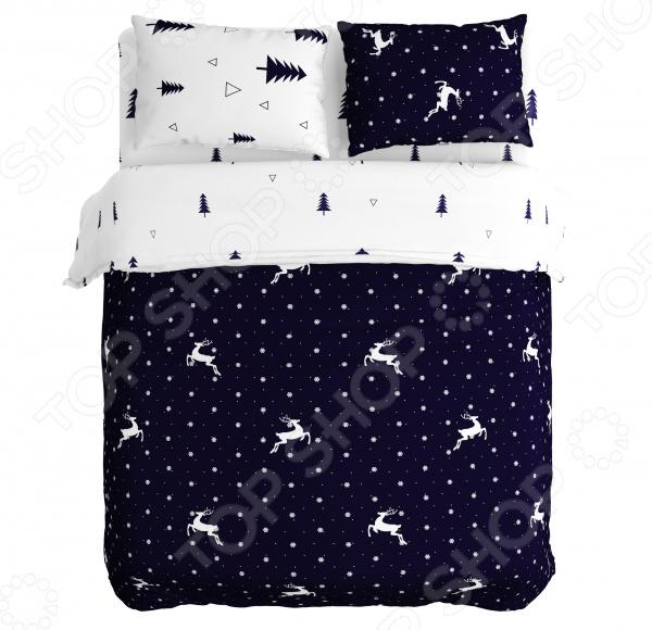 Комплект постельного белья Сирень «Снегопад в лесу»