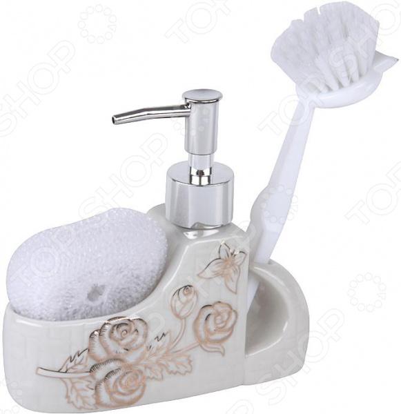 Дозатор для моющего средства Rosenberg RCE-335019 набор для ванной комнаты rosenberg rce 350004 3
