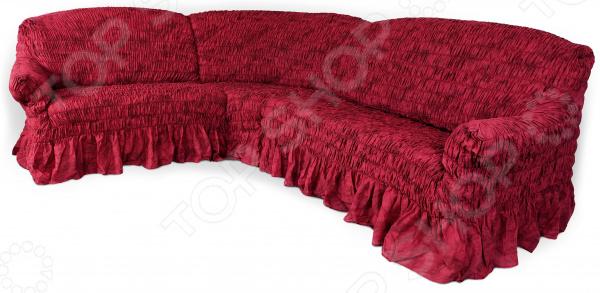 Рано или поздно интерьер квартиры приедается, родные стены теряют былой уют и изюминку . Что же делать Конечно, реанимировать жилище! Однако мало тех, кто захочет проводить косметический ремонт, переклеивать обои, покупать новую мебель. Есть лучшее решение съемный чехол для дивана. Он легко и эффектно обновит интерьер, вдохнет в него новую жизнь и, что немаловажно, потребует от вас минимальных усилий!  Натяжной чехол на угловой диван Фантазия. Вишня качественное, практичное и стильное дополнение домашнего текстиля. Благородная красная расцветка изделия поможет гармонично вписать диван в любой интерьер. Этот роскошный оттенок, несмотря на свою яркость, прекрасно сочетается с большинством цветов. Поэтому можете смело подбирать разнообразные предметы декора и обставлять ими гостиную. Качественно, стильно, практично! Помимо превосходных декоративных свойств, чехол отличается и первоклассным качеством:  он очень прочен и износоустойчив;  не теряет насыщенность цветов даже после длительного использования;  хорошо переносит ручные и машинные стирки;  не содержит аллергенов;  невероятно приятен на ощупь;  устойчив к растяжениям.  Оригинальный гофрированный материал на эластичной основе плотно облегает мебель его невозможно отличить от родной обивки дивана. Великолепный красный чехол станет ярким акцентом вашей гостиной, внесет в нее нотки изысканности и роскоши. Чтобы добиться подобного эффекта, достаточно всего несколько минут.  Именно поэтому съемный чехол для мягкой мебели выбор современных практичных людей, которые ценят свое время и грамотно расходуют средства! Одежда для вашей мебели Способов обновить старую мебель не так много. Чаще всего приходится ее выбрасывать, отвозить на дачу или мириться с потертостями и поблекшими цветами. Особенно обидно избавляться от мебели, когда она сделана добротно, но обивка подвела. Эту проблему решают съемные чехлы для мебели, быстро набирающие популярность в России. Незаменимы чехлы для мебели в домах с маленькими детьми и домашними