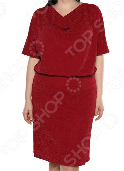 Платье Blagof «Таинственное сияние». Цвет: бордовый