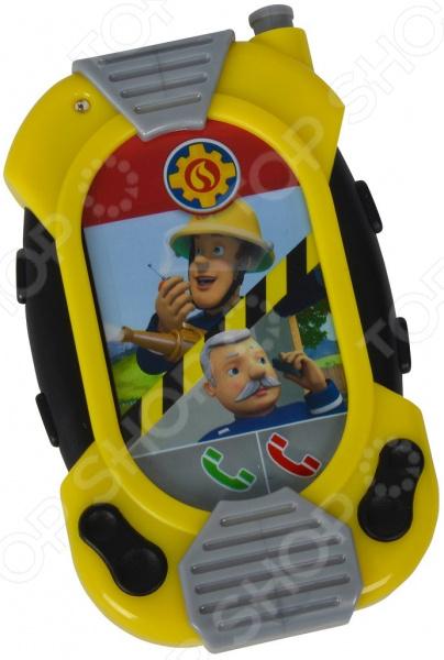 Телефон обучающий Simba «Пожарный Сэм. Смартфон со звуком» набор simba пожарный сэм пожарная станция со звуком и светом 30 см 1 фигурка