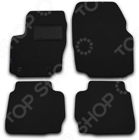 Комплект ковриков в салон автомобиля Novline-Autofamily BMW X6 E71 2008-2013. Цвет: черный