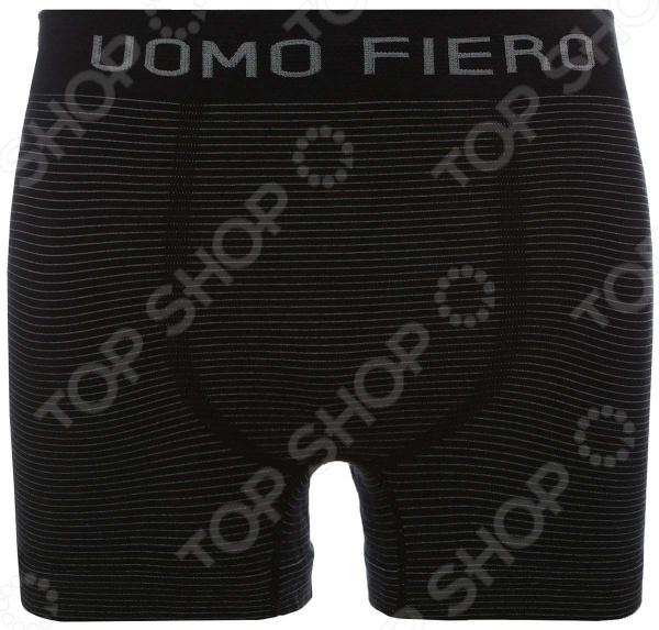Трусы-боксеры Uomo Fiero 024 FH. Цвет: черный