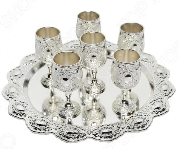 Набор бокалов на подносе MARQUIS «Фамильные драгоценности» Анна. 7 предметов наборы для крепких напитков marquis коньячный набор букет
